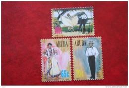 UPAEP Klederdracht NVPH 175-177 1996 MNH / POSTFRIS   ARUBA - Curacao, Netherlands Antilles, Aruba