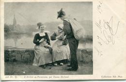 BRETAGNE -  L'Arrivée En Permission ,par Emma Herland -     Collections N.D Phot - Humor