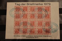 Deutschland 1979, Vignette Tag Der Briefmarke, Roter Druck, Ausstellungs-Stempel - Erinnofilie