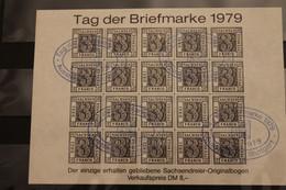 Deutschland 1979, Vignette Tag Der Briefmarke, Schwarzer Druck, Ausstellungs-Stempel - Erinnofilie