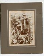 FOTOGRAFIA-PHOTO-Su Cartoncino-A Bordo Di Un Piroscafo-- Formato ;15x18-compreso Cartoncino- - Schiffe