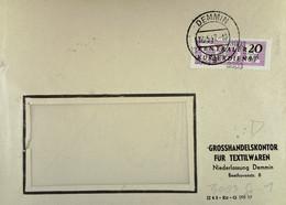 DDR: ZKD-Brief Mit 20 Pf EF Von Grosshandelskontor Für Textilwaren NL Demmin Vom 13.5.57 Nach Gera Knr: B 11 (3003) - Official