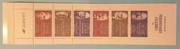 Carnet 6 Timbres - Personnages Célèbres 1987 - Richet Yersin Jamot Rostand Halpern Monod - Personajes