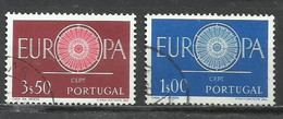 8213A-SERIE COMPLETA PORTUGAL EUROPA 1960 Nº 879/89 USADOS. - Oblitérés