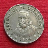 Nicaragua 25 Centavos 1954 KM# 18 - Nicaragua