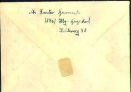 1948, Zehnfach- Mischfrankatur 23.6.48 -10 (erste Leerung) Ortsbrief HAMBURG - American/British Zone