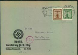 1944, Dienstbrief NSDAP Kreisleitung Fürthi. Bayern - Covers
