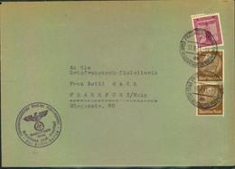 1941, Dienstbrief NSDAP Kreisleitung Groß-Frankfurt Mit Mischfrankatur Dienst/Hindenburg - Covers