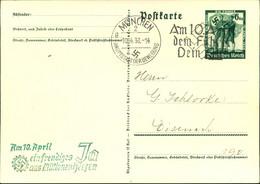 """1938, Sletener Grüner Propagandastempel Zum """"Anschluss"""" Österreichs - Covers"""