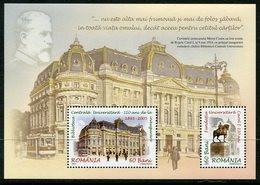 ROMANIA 2005 Bukarest University Library Block  MNH / **.  Michel Block 365 - Ungebraucht