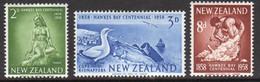 New Zealand 1958 Set Of Stamps Celebrating Centenary Of Hawkes Bay Province. - Ongebruikt