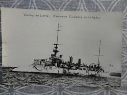 BATEAU NAVIRE MILITAIRE CROISEUR CUIRASSE DUPUY DE LOME CARTE PHOTO 1904 - Krieg