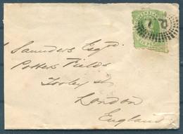 1871 Australia Queensland Brisbane 6d Cover - London England - Briefe U. Dokumente