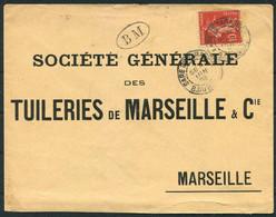 "1908 France BM ""Boite Mobile"" Gare De Taraschon B. Du Rhone - Soc. General,Marseille. Marseille - St Ferreol Railway - Lettres & Documents"