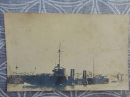 BATEAU NAVIRE MILITAIRE TORPILLEUR OPINIATRE   CARTE PHOTO 1915 DANS LE PORT DE MALTE - Krieg