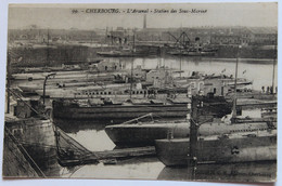 CPA Cherbourg L'arsenal Station Des Sous-marins Gros Plan - Unterseeboote