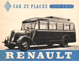 Renault Autobus Model ADJ 22 Places -  Reproduction Du Publicité D'epoque   -  Carte Postale Modern - Busse & Reisebusse