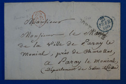 J5 FRANCE BELLE LETTRE RARE 1831 POUR PARAY LE MONIAL + CACHETS RARES   + AFFRANCHISSEMENT INTERESSANT - 1801-1848: Precursores XIX