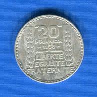 20fr  1938  Ttb Arg - L. 20 Franchi