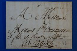 J5 FRANCE BELLE LETTRE RARE 1831 CASTELNAUD CURSIVE POUR AGIR ? + AFFRANCHISSEMENT INTERESSANT - 1801-1848: Precursores XIX
