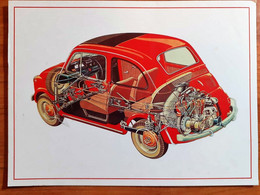 FIAT 500 EDITION SELECTED POSTCARDS 1996 - Ohne Zuordnung
