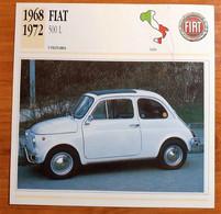 FIAT 500 L 1968-1972 SCHEDA DE AGOSTINI - Other