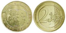 02921 GETTONE TOKEN JETON REPRO COIN 2 EURO 2005 BELGIEN-LUXEMBOURGH GOLDED - Non Classificati