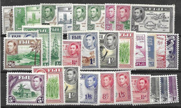Fiji Lot Mh * LOW START At 10 Cents A Stamp (inlcudes Shilling Values And Differnet Perfs) - Fiji (...-1970)
