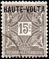 Haute Volta Obl. N° Taxe  3 - Ornements Le 15c Gris - Oblitérés
