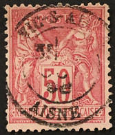 YT 98 SAGE Vic-sur-Aisne Aisne (type II) 50c Rose 1898 Léger Pli Diagonal – B2otti - 1876-1898 Sage (Tipo II)