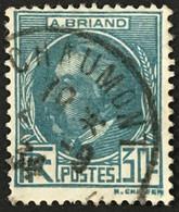 YT 291 (°) Obl 1933 Aristide Briand 30c Bleu-vert (côte 9,15 Euros) – Phil - Gebraucht