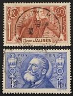 YT 318-319 (°) Oblitérés 1936 Jean Jaures (côte 5,6 Euros) – Cklot - Gebraucht