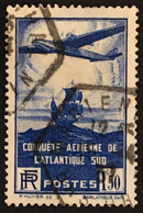 YT 320 Obl (°) 1936, 100ème Traversée Aérienne Atlantique Sud (côte 5,5) – Bw - Gebraucht