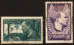 YT 337 & 338 (°) Oblitéré 1937, Jean Mermoz Hydravion Croix Du Sud (côte 4,65 Euros) – Bw - Gebraucht