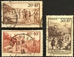 YT 345, 346, 347 (°) 1937 Au Profit Des œuvres Sociales Et Sportives Des PTT (côte 6,9 Euros) – Kr1lot - Gebraucht
