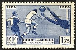 YT 396 (°) 1938 3ème Coupe Mondiale De Football Paris 1f75 Outremer (côte 15 Euros) – Bw - Gebraucht