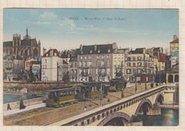 20A2991 METZ Moyen Pont Et Quai St Louis Tramways - Metz