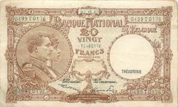 Belgium, Kingdom, Banknote 20 Francs 1947 Royal Couple, Morin 27d, VF - 20 Francs
