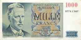 Belgium, Kingdom, Banknote 1000 Francs 1951 King Albert I Left, Morin 103a, VF/XF - 1000 Francs