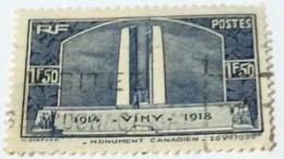 France 1936 Vimy War Monument 1.50fr - Used - Gebraucht