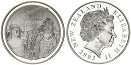 New Zealand, State, 1 Dollar Silver 2003 Lord Of The Rings - Aragorn's Coronation, KM 247, Proof - Nuova Zelanda