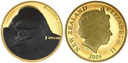 New Zealand, State, 1 Dollar Aluminum-Bronze 2005 King Kong - Multicolor King Kong, KM 160, Prooflike - Nuova Zelanda