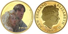 New Zealand, State, 1 Dollar Aluminum-Bronze 2005 King Kong - Multicolor Ann Darrow & Jack Driscoll, KM 162, Prooflike - Nuova Zelanda