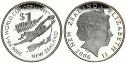 New Zealand, State, 1 Dollar Silver 2006 World Championship Soccer, KM 158, Proof - Nuova Zelanda