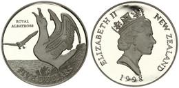 New Zealand, State, 5 Dollars Silver 1998 Royal Albatross, KM 107a, Proof - Nuova Zelanda