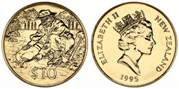 New Zealand, State, 10 Dollars Aluminum-Bronze 1995 Gold Prospector, KM 94, B.UNC - Nuova Zelanda
