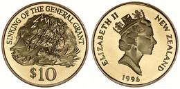 New Zealand, State, 10 Dollars Aluminum-Bronze 1996 Sinking Of The General Grant, KM 98, Prooflike - Nuova Zelanda