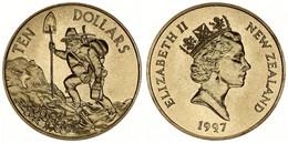 New Zealand, State, 10 Dollars Aluminum-Bronze 1997 Prospector With Shovel, KM 104, B.UNC - Nuova Zelanda
