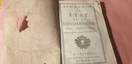 ALMANACH ET ETAT DE LA GENDARMERIE 1771 / - 1701-1800