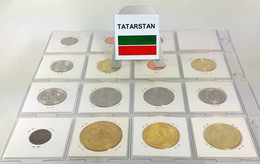 Tatarstan, Lovely Coin Collection 2008-2013 With 15 Different Coins In Coinholders, All In High Grades Including Scarcer - Tatarstan